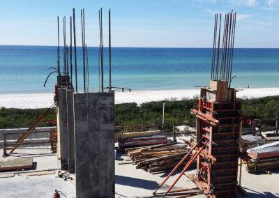 Concrete Construction near the beach