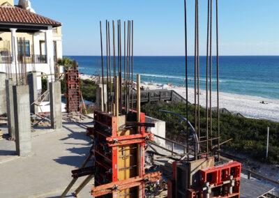 construction near the beach