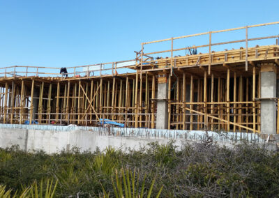 wood framing for a beach house