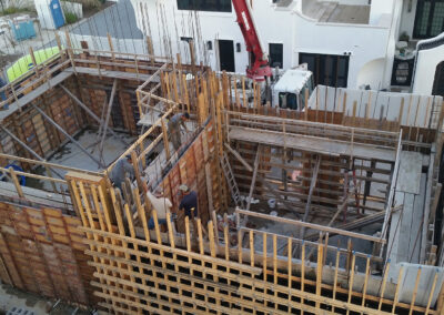 two rooms residential concrete construction