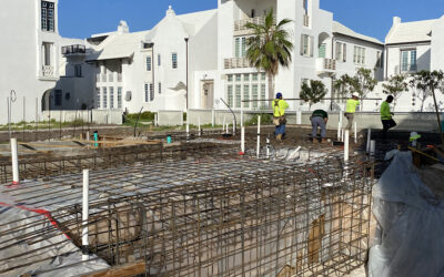 New Start up construction for homes in Alys Beach